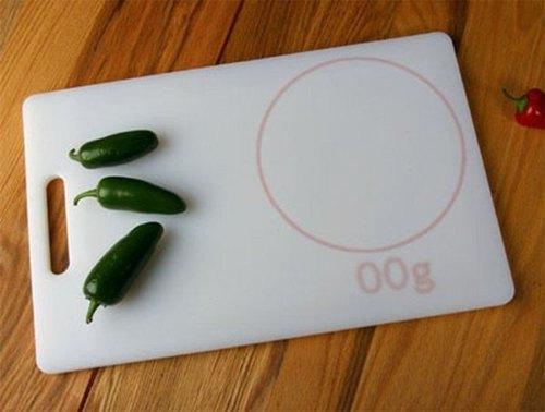 design concept cutting board with builtin scale, Kitchen design